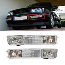 For 93-99 VW Golf/Jetta MK3 Clear Front Fog Lights Bumper Turn Signal Lamp New