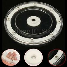 9'' Clear Rotating Bearing Lazy Susan Turntable Round Swivel Plate Display Base