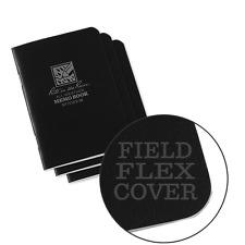 Rite in the Rain 771FX-M All-Weather Mini Stapled Notebook, Univ., Black -3 pack