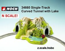 NOCH 34660 N Scale Single Track Curved Tunnel Scenery with Pond NEW *USA Dealer*
