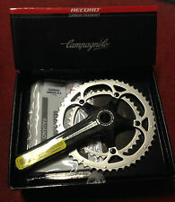 Guarnitura Campagnolo Record carbon bike crankset 180 39-52 10 s made in Italy