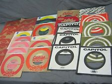 33 CAPITOL LABEL COMPANY SLEEVES FOR 45 RPM RECORDS -  BEATLES BEACH BOYS PSYCH