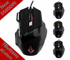 For Pro Gamer 5500 DPI 7 Button LED Optical USB Wired Gaming Mouse Mice Hot Sell