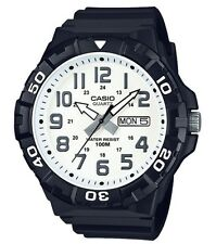 Casio Watch * MRW210H-7AV Diver Look XL 100WR White Face Black Strap COD PayPal