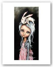 FANTASY ART PRINT Bunny Couture Angelina Wrona 5.5x12