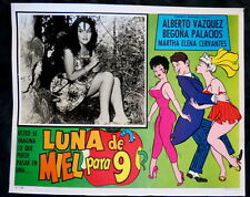 """LUNA DE MIEL PARA 9"" BEGONA PALACIOS FUNNY SEXY NEAR MINT LOBBY CARD PHOTO 1964"
