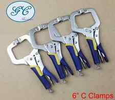 "4pc 6"" C-Clamp, Heavy Duty, Mig Welding Locking Plier Vice Grip, Quick Release"