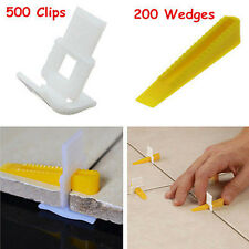 700 Tile Leveling System - 500 Clips + 200 Wedges - Tile Leveler Spacer Lippage