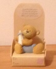 BABY BOY #2 FIGURINE(makes great cake/gift topper) WITH CUTE SENTIMENT
