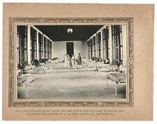 India 1918 mounted print Bhavnagar War Hospital MAHARAJA & MAHARANI IN THE WARD