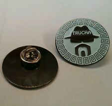 Lowrider Hat Chicano Trucha Cholo Aztec Design Hat Button Badge Pin Metal
