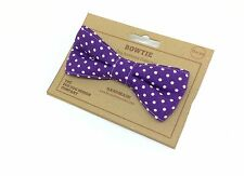Dog Bow Tie, Polka Dot Purple, Dog Fashion Dog Bow, Pet Accessories