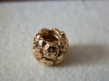 BNWB100% GENUINE PANDORA VERY RARE RETIRED 14K GOLD FAMILY CHARM