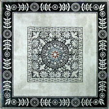 Classic Black Carpet Flower Pattern Marble Mosaic CR429
