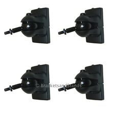 4 Small Black Speaker Home Theater Wall Mount Brackets
