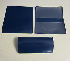 1 NEW ROYAL BLUE VINYL CHECKBOOK COVER WITH DUPLICATE FLAP CHECK BOOK COVERS