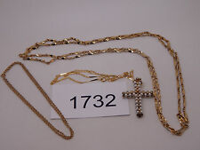 Vintage Jewelry LOT OF 3 Necklaces GOLD TONE AVON 1732
