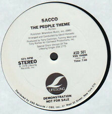 "12"" US**SACCO - THE PEOPLE THEME (LIFESONG '78 / PROMO)***20390"