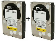 2 WD RE SAS 3TB Enterprise Hard Drives 7200 RPM, SAS, 32 MB Cache WD3001FYYG 6TB