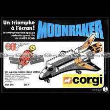 CORGI TOYS 1979 JAMES BOND MOONRACKER SPACE SHUTTLE (649) Pub Publicité Ad #B244
