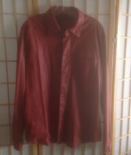 TRUSSARDI BORDEAU EXTREEMLY SOFT LEATHER WOMENS JACKET  M/L. italy 52