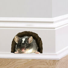 Mouse in a Hole Wall Sticker Decal Mice Home Decor Mural Nature Skirting Board