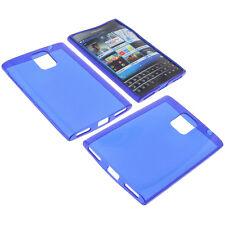Tasche f. Blackberry Passport Handytasche Schutz Hülle TPU Gummi Case Dunkelblau