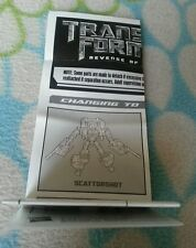 Transformers ROTF SCATTORSHOT INSTRUCTION BOOKLET ONLY