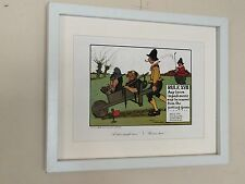 """Golf article XVII-CHARLES CROMBIE - 12"""" x16"""" frame, comiques Golf Mur Art"""