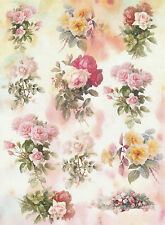 Rice Paper for Decoupage Decopatch Scrapbook Craft Sheet Vintage Romantic Roses