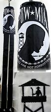 """60"""" Embroidered POW-MIA 100% Polyester Wind Sock W/Grommets"""