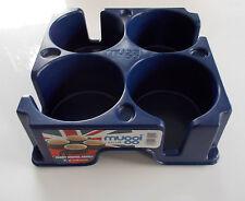 Cocina Camping Caravan Motorhome Muggi Taza de plástico azul/sostenedor de taza/vidrio
