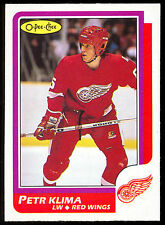 1986 87 OPC O PEE CHEE #98 PETR KLIMA RC NM DETROIT RED WINGS OILERS HOCKEY CARD