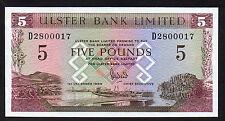SPLENDID  1989  £5 ULSTER BANK  MINT