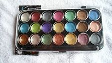 PEARLESCENT 21-PC WATERCOLOR PAINT SET w/ 3-PC ROUND SABLE MIX BRUSH SET ~ NEW!!