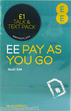 Official EE 4G/3G Pay As You Go SIM Nano/Micro/Standard size.Fits all phones
