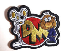 "Danger Mouse Logo Die Cut 4"" Wide Embroidered Patch- FREE S&H (ANPA-DM-02)"