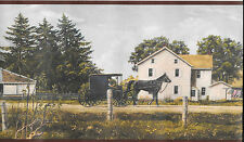 Amish Country, Barns, Horse and Buggy WALLPAPER BORDER