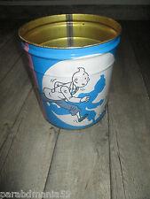 Vente Hergé-Lot publicitaire-Ancienne poubelle Tropico+chèques Tintin Alsa(1960)