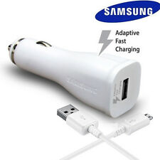 OEM Original Samsung Galaxy S6 S7 Note 4 5 Adaptive Fast Car Charger+5Ft Cable W