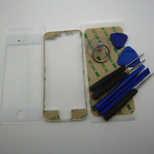 White phone housing parts for IPhone 5S frame middle bezel & front outer glass