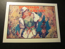 Old Vintage - 1930's Pantomime THEATRE Mini POSTER - ROBINSON CRUSOE