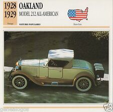 FICHE AUTOMOBILE GLACEE US USA CAR OVERLAND MODEL 79 1911-1914
