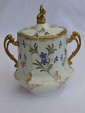 Antique fine quality Limoges France large sugar bowl and cover