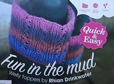 KNITTING PATTERN Rico Ladies Cable Patterned Welly Toppers Wellington PATTERN