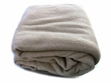 Super Warm Soft Cozy Solid Brown Beige Full Size Hospitality Hotel Bed Blanket