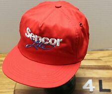VINTAGE SENCOR LITE TRUCKERS STYLE HAT RED MADE IN THE USA EXCELLENT COND