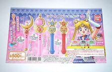 Bandai Sailor Moon 20th Wand Charm Part 1 Gashapon Toy Machine Paper Card