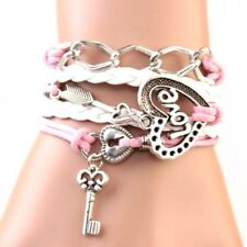 Love Bracelet Multi-layer Arrow Lock and  Key Heart Chain