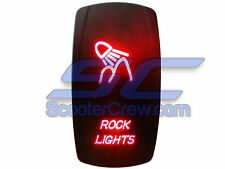 UTV Rocker RV Switch Red Led On Off Rock Lights Toggle Square 5 prong Dune Sand